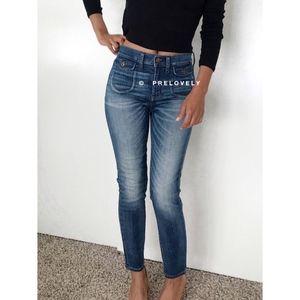 MADEWELL | Hi Rise Cropped Skinny Blue Jeans